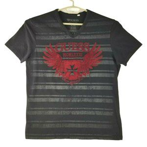 Guess Mens Black Gray Red S/S Graphic TEE-XL